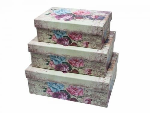 Set 3 cutii dreptunghiulare | Petal Flowers