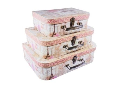 Set 3 cutii valiza | Petal Flowers