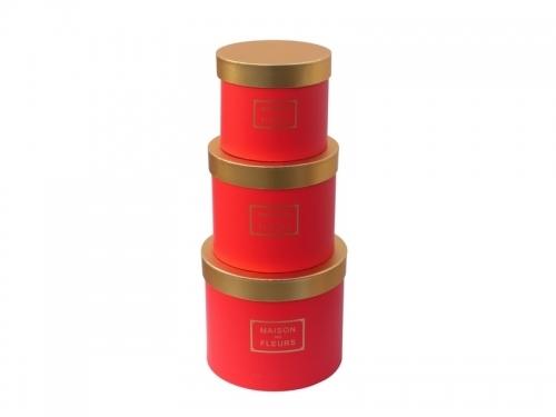 Set 3 cutii cilindru | Petal Flowers